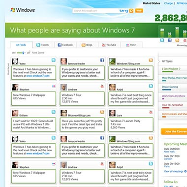 Windows 7 Social Site
